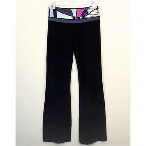 LULULEMON   groove printed black yoga pants 8